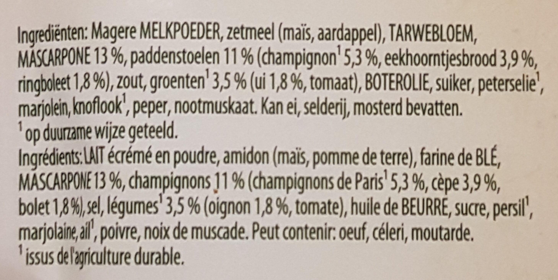 Soupe aux champignons - Ingrédients - fr