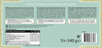 Carte D'or Tradition Buche Glacée Myrtille Chocolat Blanc 10 parts 1l - Ingrédients