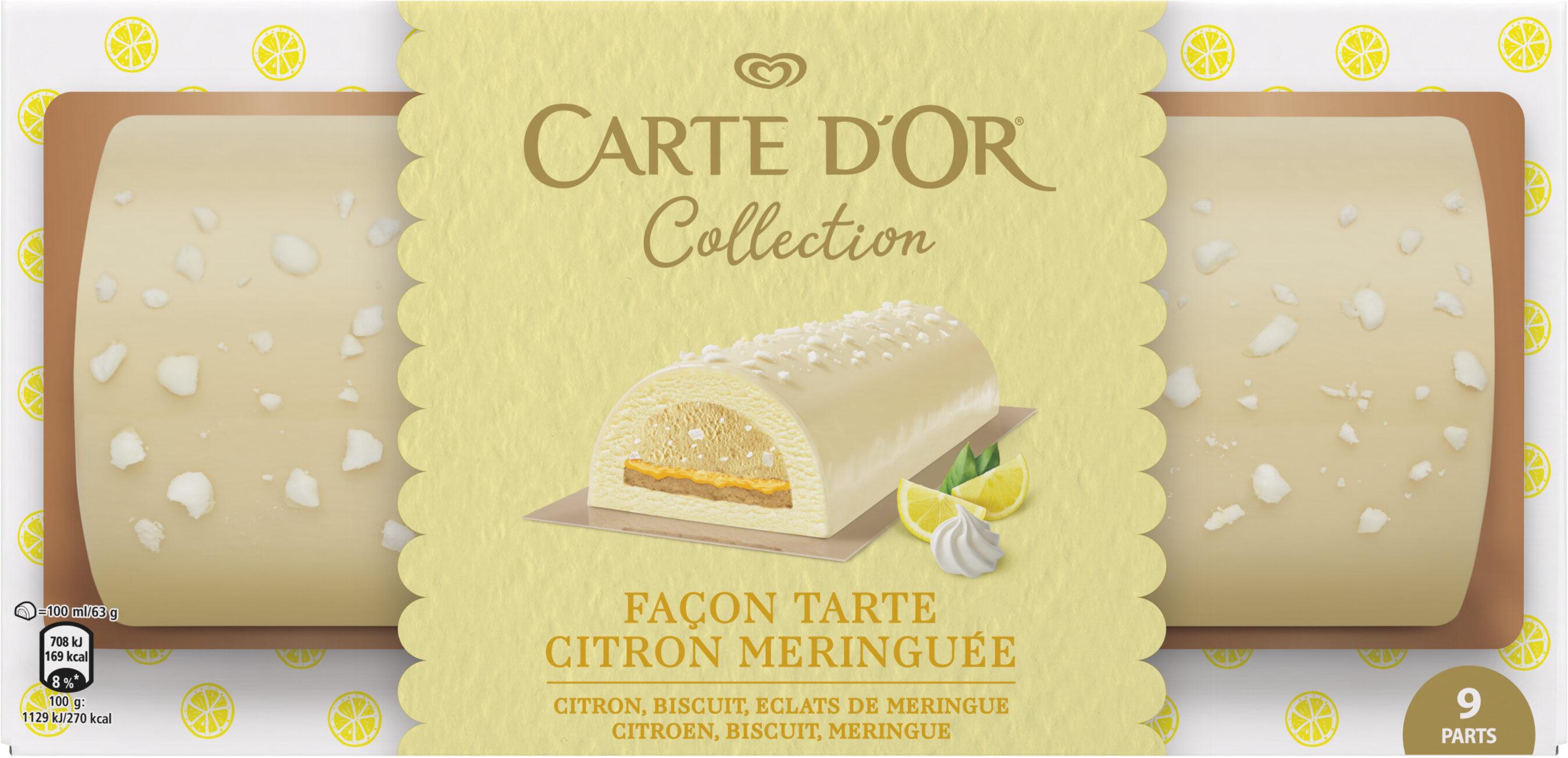 Carte D'or Collection Buche Glacée Collection Tarte au Citron Meringuée 9 parts 900ml - Produit - fr