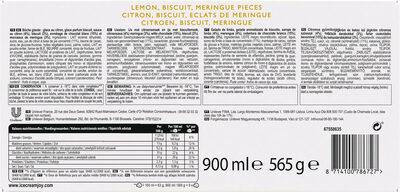 Carte D'or Collection Buche Glacée Collection Tarte au Citron Meringuée 9 parts 900ml - Ingrédients - fr
