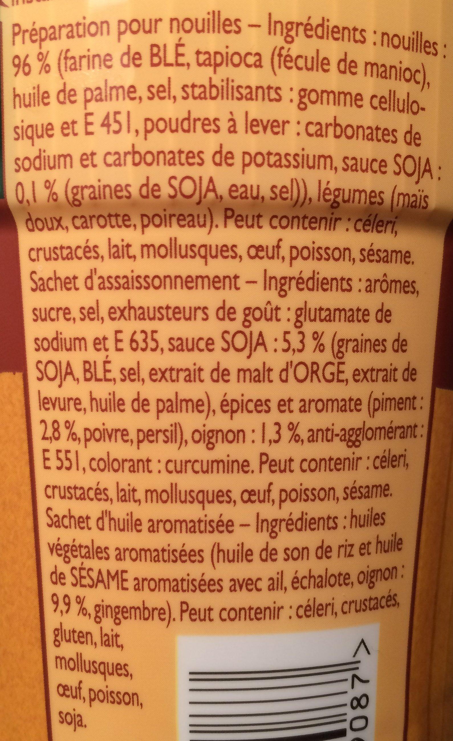 Knorr Mon Asian Pot Nouilles Poulet Thaï - Ingrédients - fr
