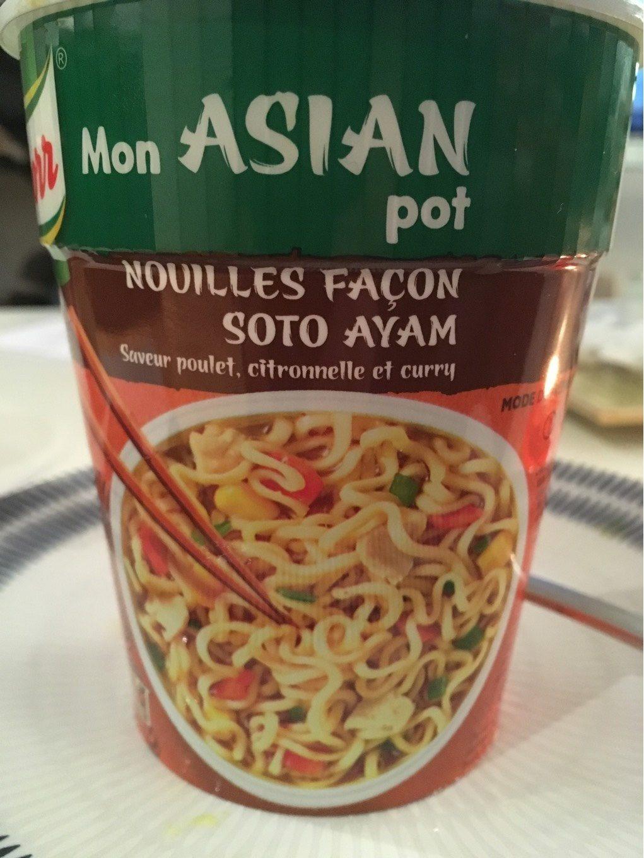 Knorr Mon Asian Plat Déshydraté Nouille au Poulet façon Soto Ayam 65g - Product - fr