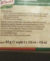 Knorr helle Sauce zu Gemüse - Ingrediënten - de