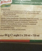 Knorr helle Sauce zu Gemüse - Ingrediënten