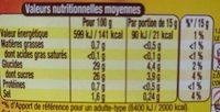 Amora Sauce Barbecue Flacon Souple 285g - Informations nutritionnelles