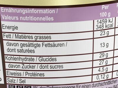 Praliné Chocolate & Hazelnut - Voedingswaarden - fr