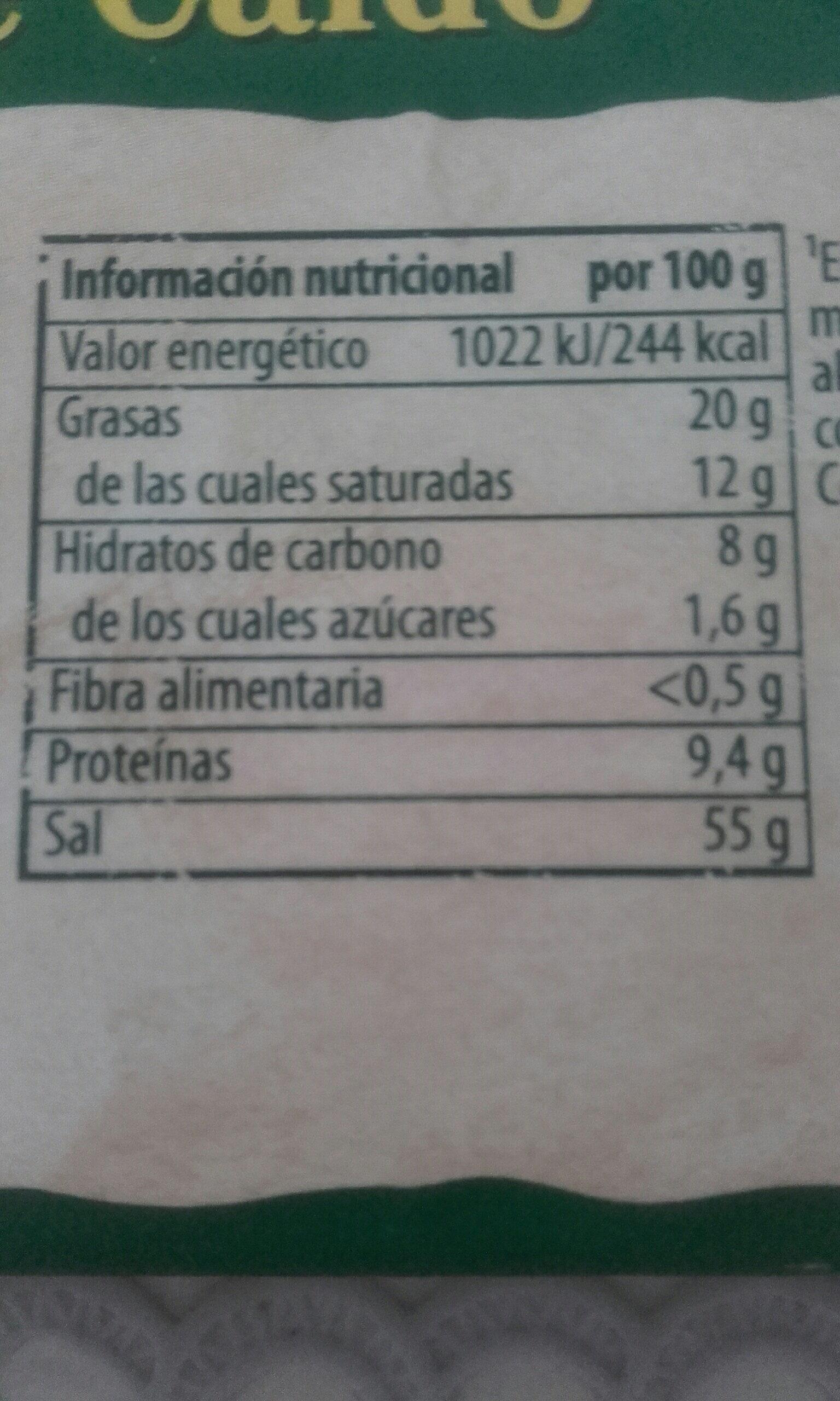 Doble Caldo - Informació nutricional