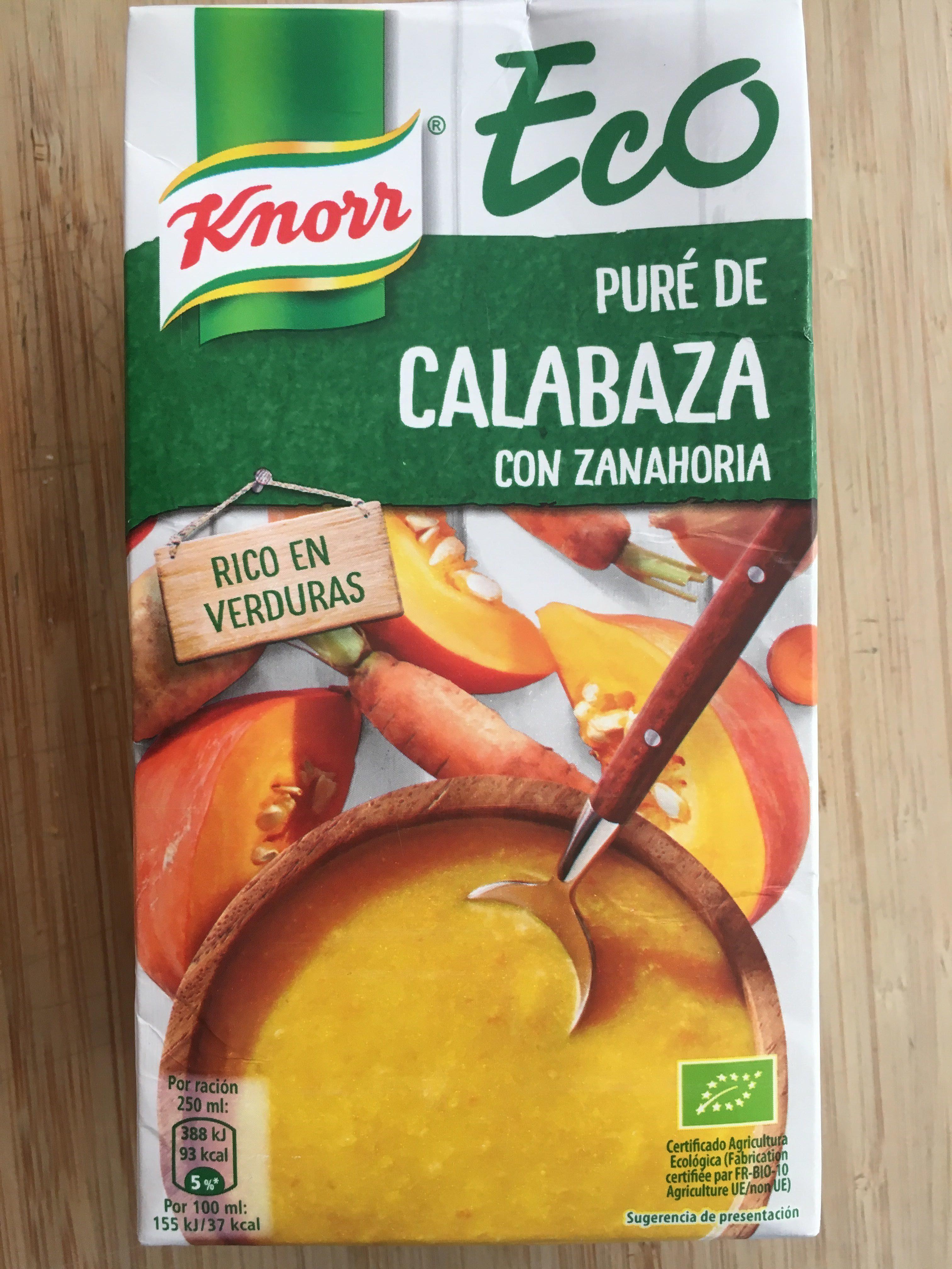 Purée de Calabaza con Zanahoria - Produit - fr