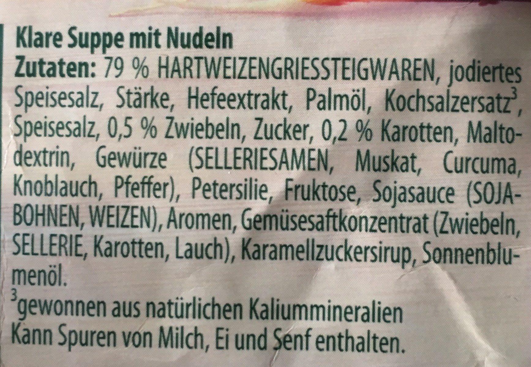 Buchstabensuppe - Zutaten - de