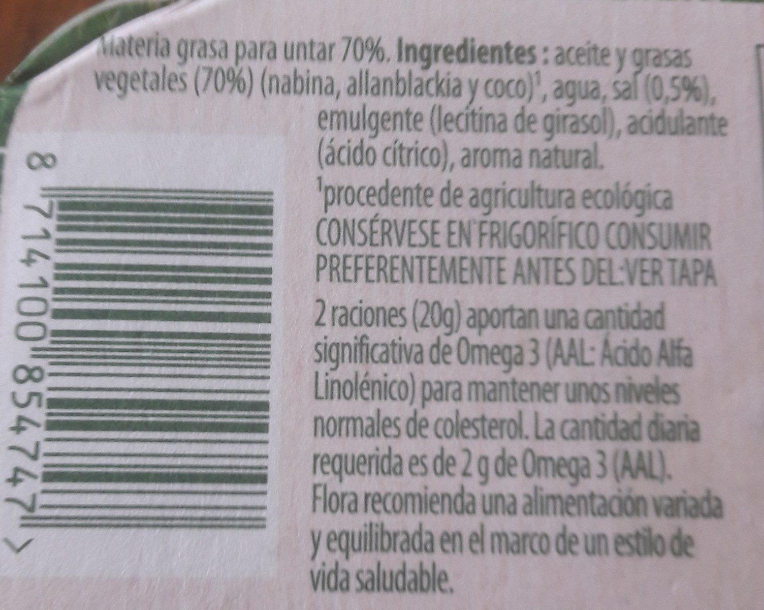 Margarina eco - Ingredienti - fr