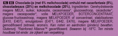 Magnum Glace Bâtonnet Mini Double Chocolat 6x60ml - Ingrediënten - nl