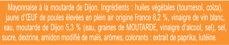 Amora Mayonnaise Dijon Nature Œufs Français Flacon Souple 685g - Ingrediënten - fr