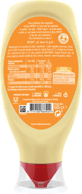 Amora Mayonnaise Dijon Nature Œufs Français Flacon Souple 685g - Voedingswaarden - fr
