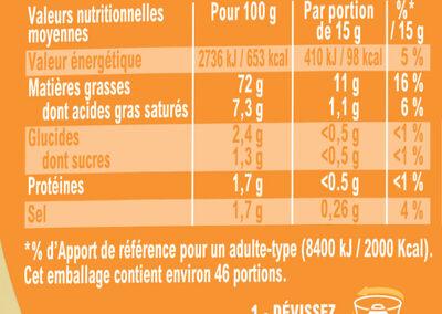 Amora Mayonnaise Dijon Nature Œufs Français Flacon Souple - Nutrition facts - fr