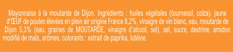 Amora Mayonnaise Dijon Nature Œufs Français Flacon Souple - Ingredients - fr