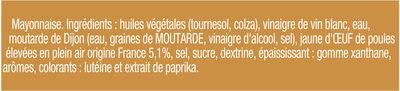 Amora Mayonnaise Dijon Nature Œufs Français Offre Saissoniere Flacon Souple - Ingredients - fr