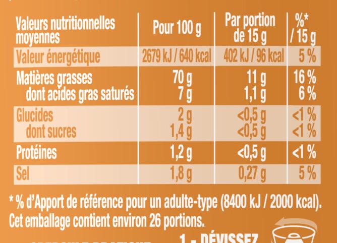 Amora Mayonnaise Dijon Nature Œufs Français Offre Saissoniere Flacon Souple - Nutrition facts - fr
