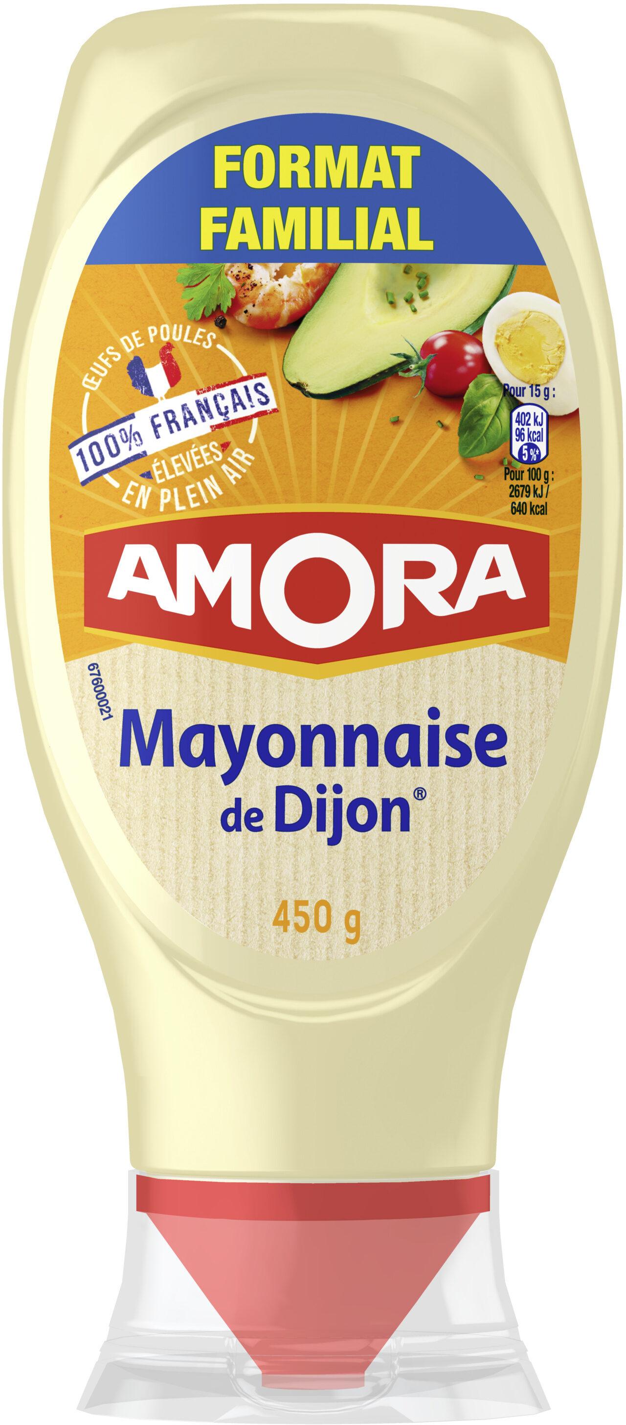 Amora Mayonnaise Dijon Nature Œufs Français Flacon Souple 450g Format Familial - Produit - fr