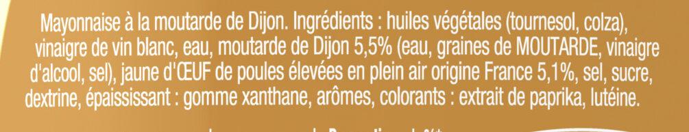 Amora Mayonnaise Dijon Nature Œufs Français Flacon Souple 450g Format Familial - Ingrédients - fr