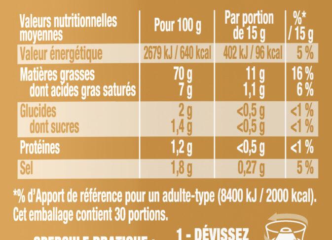 Amora Mayonnaise Dijon Nature Œufs Français Flacon Souple 450g Format Familial - Informations nutritionnelles - fr