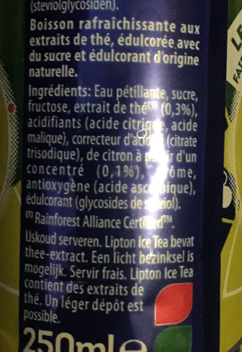 Lipton original Sparkling Ice Tea - Ingrédients - fr