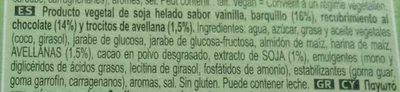 Cornetto au Soja sans gluten - Ingredientes