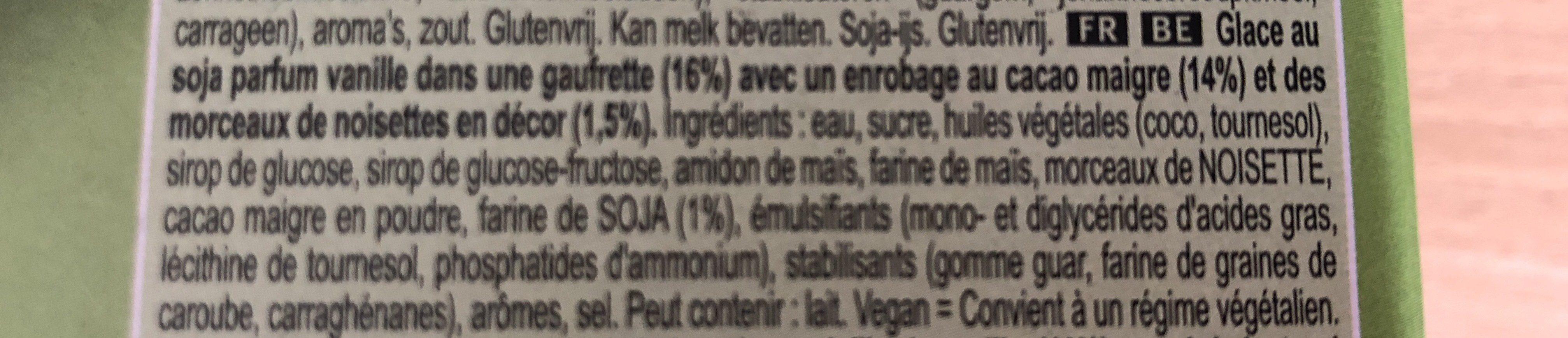 Cornetto au Soja sans gluten - Ingrediënten