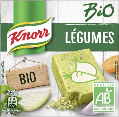 Knorr Bouillon Bio Saveur Légumes 6 Cubes 60g - Product