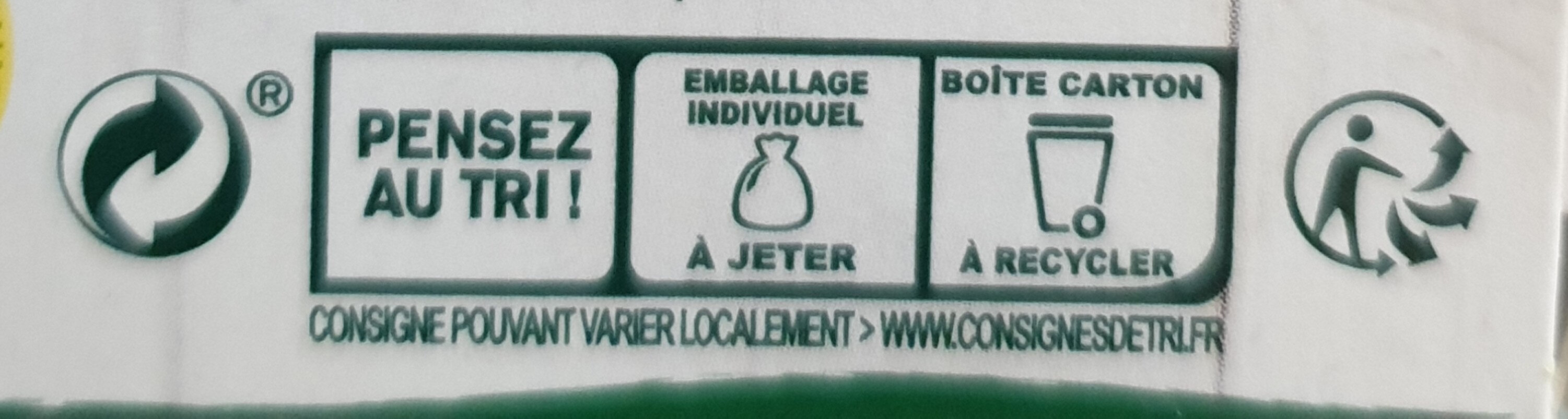 Knorr Bouillon Bio Saveur Légumes 6 Cubes - Recycling instructions and/or packaging information - fr