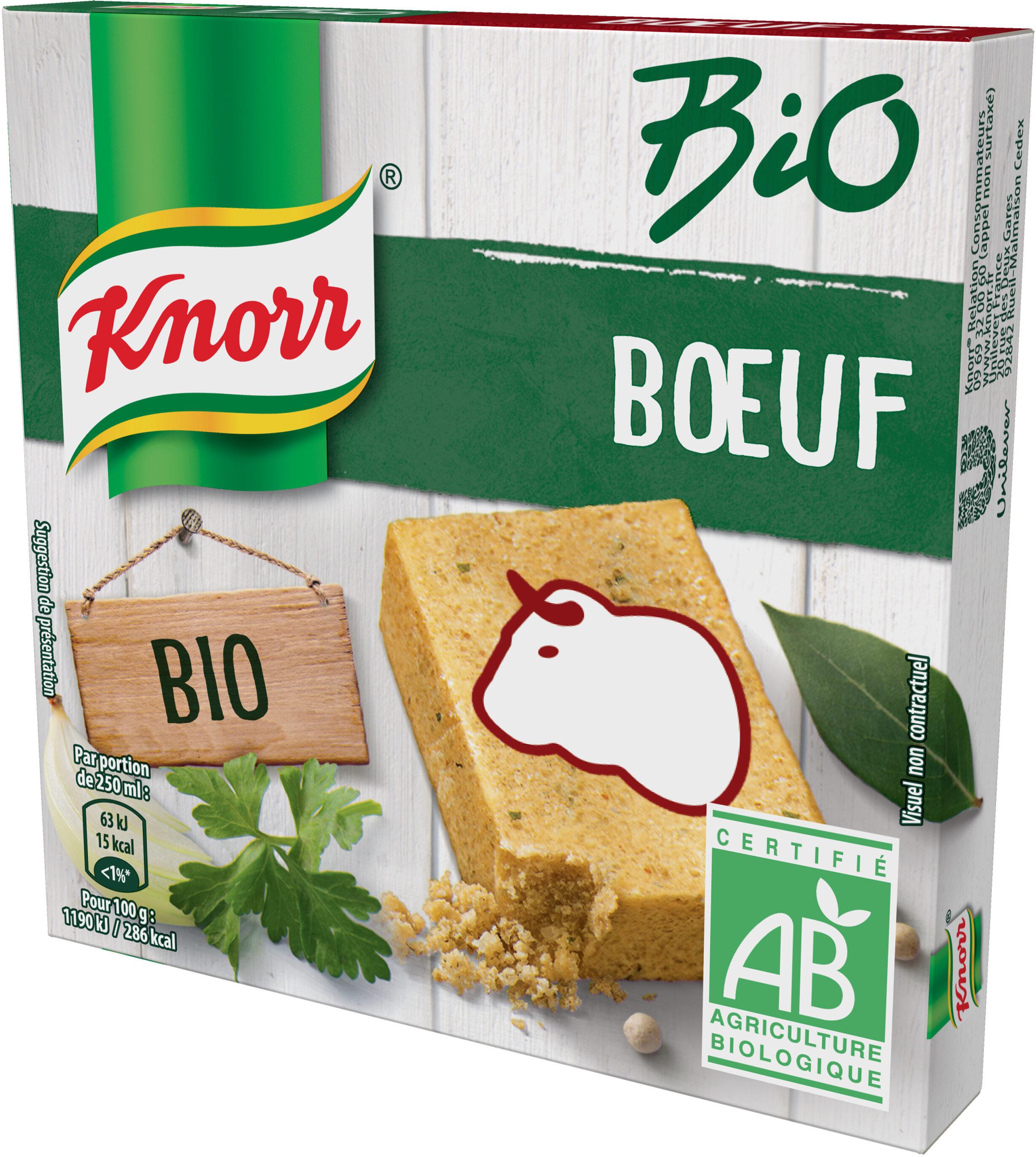 Knorr Bio Bouillon Bio Cubes Saveur Boeuf 6 Cubes - Produit - fr