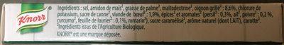 Knorr Bio Bouillon Bio Cubes Saveur Boeuf 6 Cubes - Ingrédients - fr