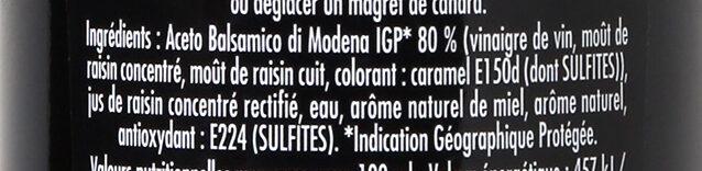 Maille Vinaigre Balsamique Saveur Miel - Ingredients - fr
