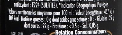 Maille Vinaigre Balsamique Saveur Miel - Nutrition facts - fr