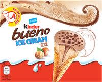 KINDER Bueno Glace Cornet aux Noisettes et Chocolat 360ml x4 - Produit - fr