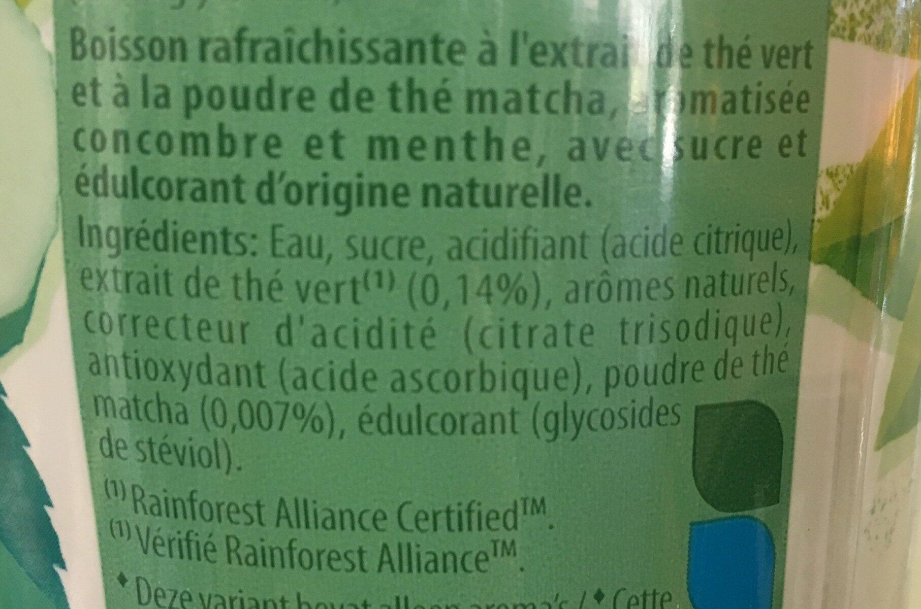 Green Ice Tea Matcha - Ingrédients - fr
