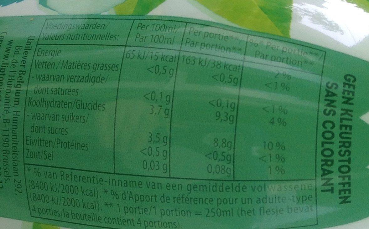 Green Ice Tea Matcha - Informations nutritionnelles - fr
