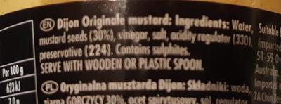 Dijon Originale - Ingredients