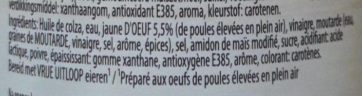 Mayon(n)aise aux oeufs - Ingrediënten - fr
