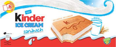 KINDER Glace Sandwich Céréales et Lait - Prodotto - fr