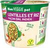 Knorr Mon Veggie Pot Plat Déshydraté Lentilles et Riz façon Dal Indien Végétarien 76g - Produit