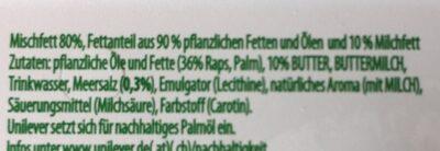Rama au beurre - Inhaltsstoffe - fr