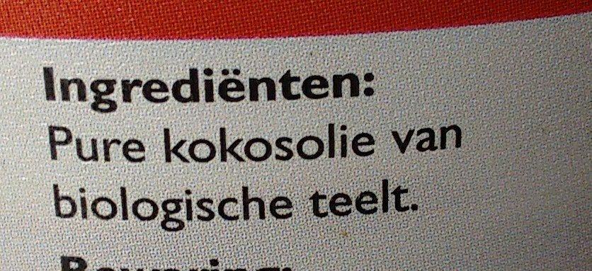Biologische kokosolie - Ingrediënten - nl