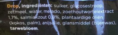 NL drop zacht zoet - Ingrediënten