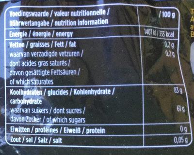 NL drop zacht zoet - Voedingswaarden