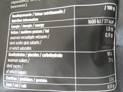 Droptoppers - Voedingswaarden - nl