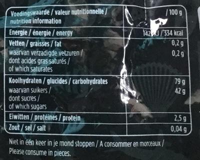 Drop uitdeelmix zoet zout - Voedingswaarden
