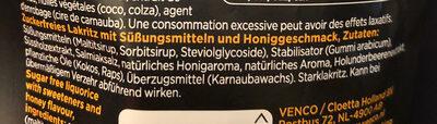 Suikervrij Honing Drop - Ingredients
