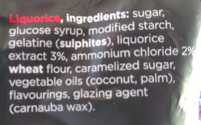 Muntendrop - Ingrediënten - nl