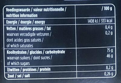 Dropmix gemengd - Voedingswaarden - nl