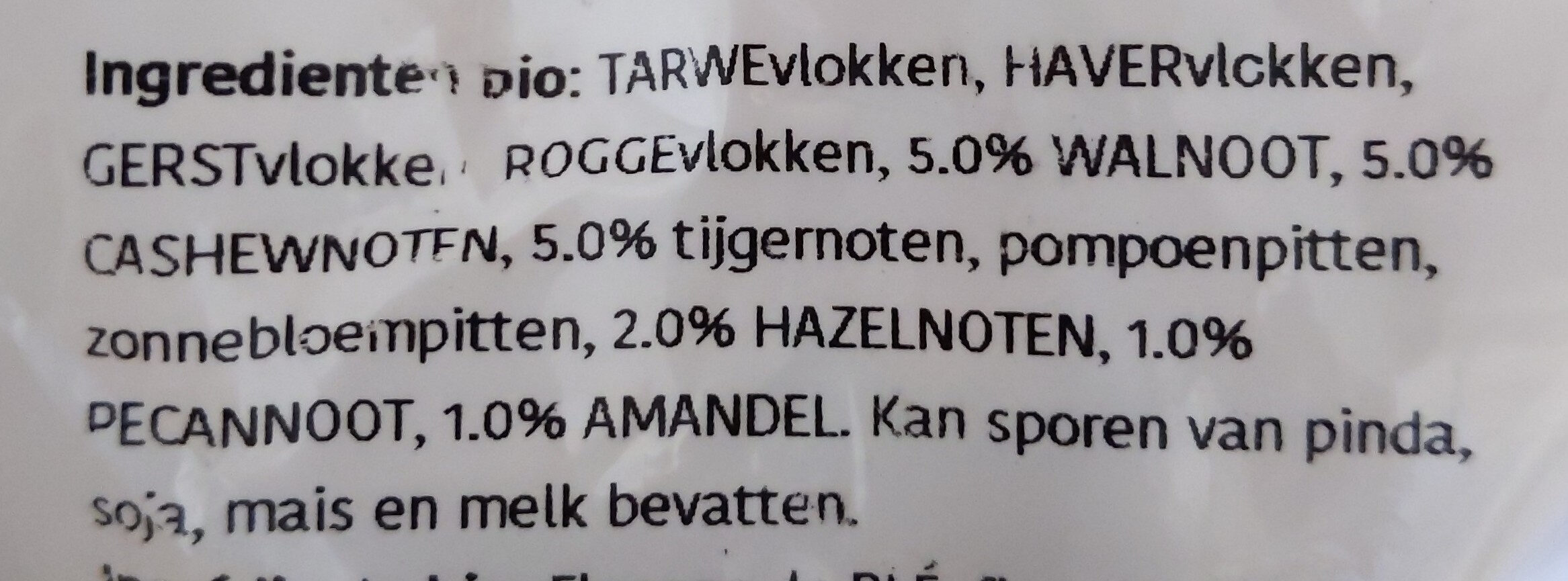 Muesli noix - Ingredients - nl